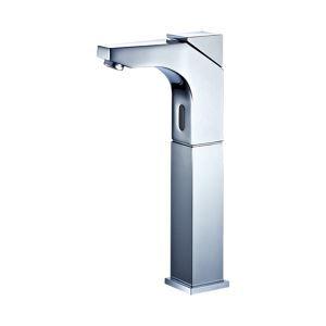 (EU Lager)Zeitgenössische Chrom Oberfläche Deck Montierten Sensor Messing Bad Waschtischarmatur (Hoch)
