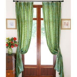 Moderne Floral grün Polyester Energiespar Vorhang