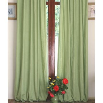 gardinen leinen gr n pauwnieuws. Black Bedroom Furniture Sets. Home Design Ideas
