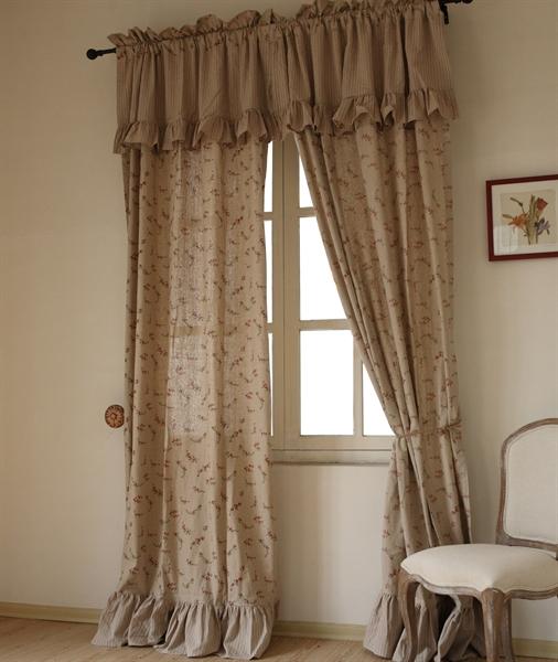 landhaus floral natur leinen energiespar vorhang 842. Black Bedroom Furniture Sets. Home Design Ideas
