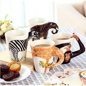 Reine handgemalten Tier Keramiktasse