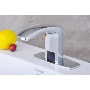 (EU Lager)Chrom Wasserkraft Bad Waschtischarmatur mit automatische Sensor (kalt)