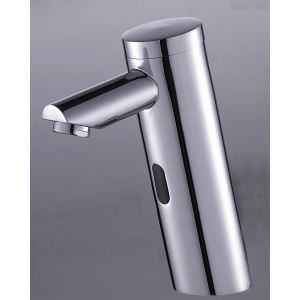 (EU Lager)Messing Bad Waschtischarmatur mit automatischer Sensor (kalt)