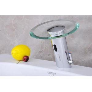 (EU Lager)Sensor Waschtischarmatur Bad Wasserfall