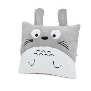 Totoro Kissenbezug Grau und Weiß