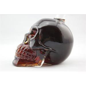 Skull Kopf Glas Weinflasche
