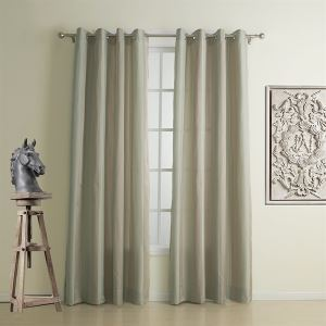 ( 1er Pack ) Neoklassizistisch Jacquard Beige Streifen Polyester Energiespar-Gardine