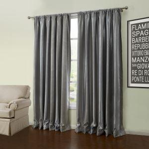 ( 1er Pack ) Modern Gestickt Grau Geometrisch Muster Polyester Verdunkelungsvorhang-56