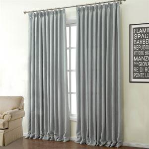 ( 1er Pack ) Modern Grau Unifarbe Polyester & Baumwolle Energiesparungsvorhang-503