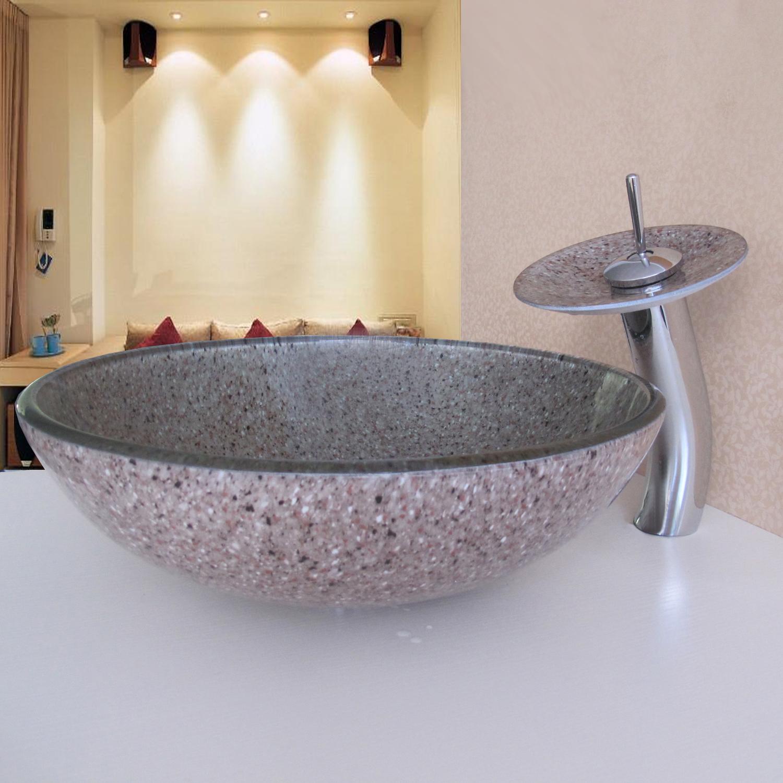 ausverkauft eu lager landhaus spot rund glas waschbecken mit wasserhahn ablaufgarnitur und. Black Bedroom Furniture Sets. Home Design Ideas