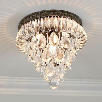 beleuchtung - deckenleuchten - (eu lager)landhaus eisen kristall, Schlafzimmer