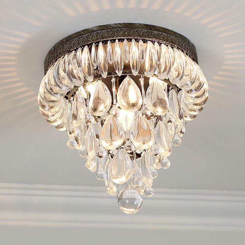 Beleuchtung - Deckenleuchten - (eu Lager)landhaus Eisen Kristall ... Deckenleuchten Schlafzimmer Landhausstil
