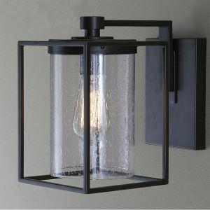 (EU Lager)Landhaus Stil Eisen Glas Antik/Schwarz Malerei Wandleuchte