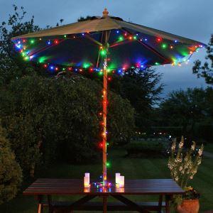 (EU Lager)12M Länge Dekorative Bunte 100 flammige LED Lichterkette für Weihnachten