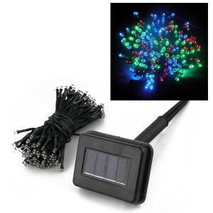 (EU Lager)22m Länge Solarlampe-200 flammige Bunte Lichterkette-Für Weihnachten, Party, Hochzeit, Garten