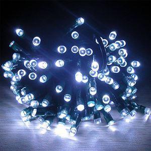 (EU Lager)2m Länge Solarlampe-20 flammige Weiße LED Lichterkette für Weihnachten, Party,Hochzeit, Garten