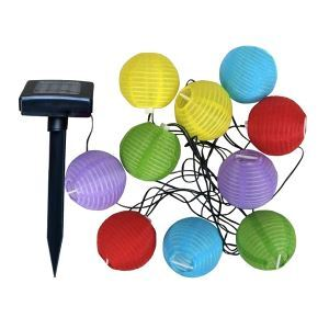 (EU Lager)10 flammige LED Laterne Solarlampe Lichterkette-Für Weihnachten, Garten