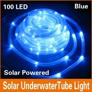 (EU Lager)100 flammige Blau Solar LED Lichterkette