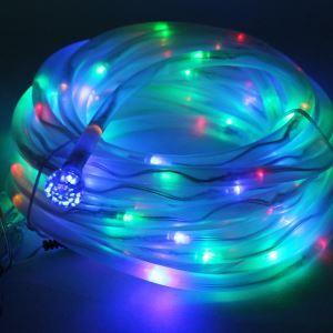 (EU Lager)100 flammige Dekorative Bunte Solar LED Lichterkette-Für Garten, Party