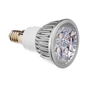(EU Lager)E14 LED Spot Silber 4*1W 360lm 25-40° AC85-256V