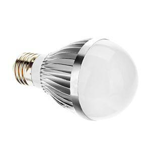 (EU Lager)E27 led Kugellampe 3*1W 400lm 180° SMD 5050 AC85-265V Silber