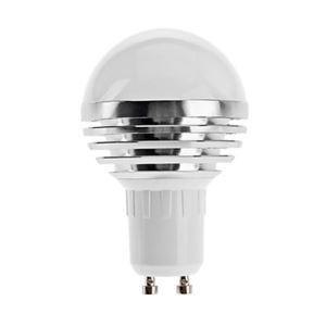 (EU Lager)GU10 led Kugellampe 3*1W 240lm 180° SMD 5050 AC85-265V Silber