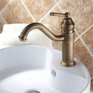 (EU Lager) Badezimmer Waschtischarmatur Antik Messing Einhandmischer