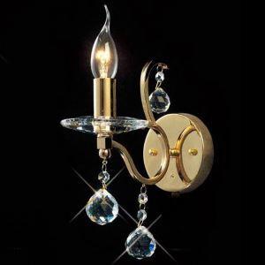 (EU Lager)1 flammige Kristall Wandleuchte-Gold oder Silber