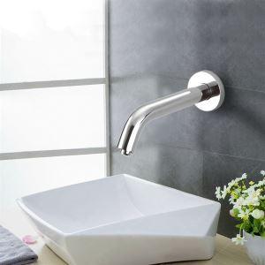 (EU Lager)Zeitgenössische Badezimmer Sensor Waschtischarmatur-Chrom Oberfläche(Kalt)