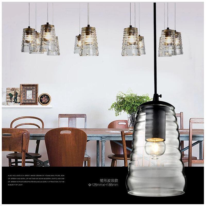 pendelleuchte glas vintage stil 1 flammig im esszimmer. Black Bedroom Furniture Sets. Home Design Ideas