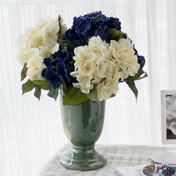 ausverkauft hortensie kunstblume vase. Black Bedroom Furniture Sets. Home Design Ideas