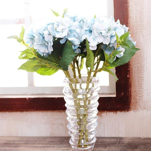 ausverkauft hortensie seidenblumen glas vase. Black Bedroom Furniture Sets. Home Design Ideas