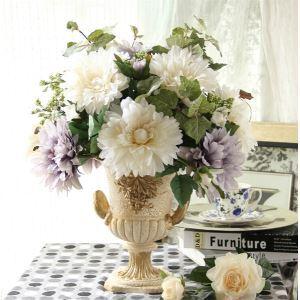 Chrysanthemen Kunstblumen+Harz Vase