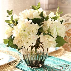 Hortensie Kunstblumen+Vase Set