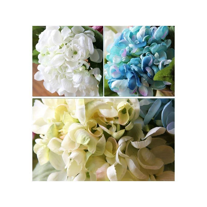 ausverkauft hortensie kunstblumen vase set. Black Bedroom Furniture Sets. Home Design Ideas