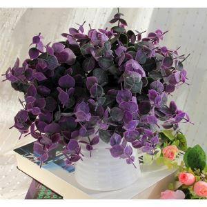 Blätter Kunstblume+Vase Set