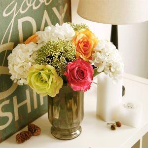 Rose&Hortensie Kunstblumen+Vase