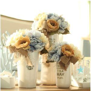 Pfingstrose Kunstblumen+Keramik Vase Set