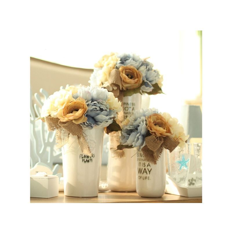 ausverkauft pfingstrose kunstblumen keramik vase set. Black Bedroom Furniture Sets. Home Design Ideas