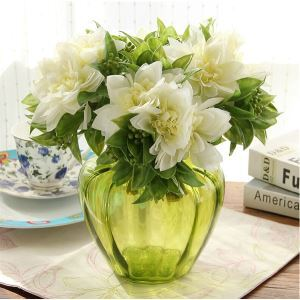 Passionsblume Kunstblumen+Vase Set