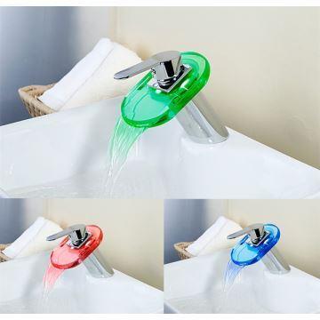 Ausverkauft Eu Lager Farbwechsel Wasserfall Messing Badezimmer