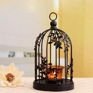 US-amerikanischer Landhausstil Metall Vogel Käfig Kerzenhalter