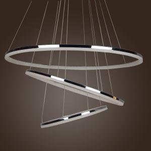 (EU Lager)Modern LED Pendelleuchte Polyester Minilampe mit 3 Ringen