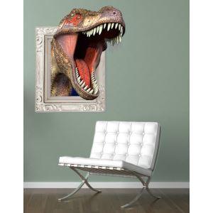 (EU Lager)3D Wandtattoo Dinosaurier Tyrannosaurus PVC Fototapete