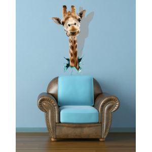 (EU Lager) 3D Wandtattoo Giraffe Kopf PVC Fototapete