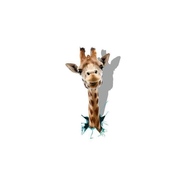 sch n g nstig 3d wandtattoo giraffe kopf pvc fototapete. Black Bedroom Furniture Sets. Home Design Ideas