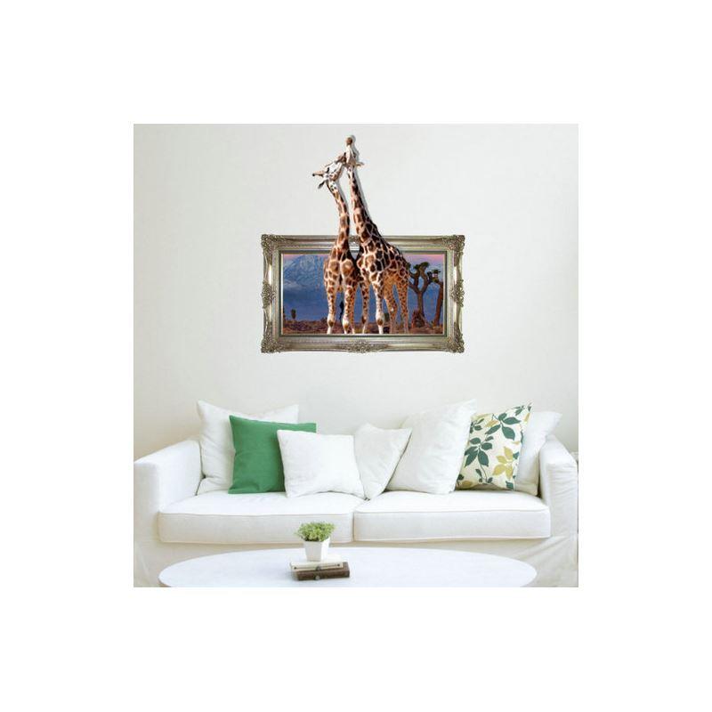 Schon Gunstig 3d Wandtattoo Giraffe Pvc Fototapete