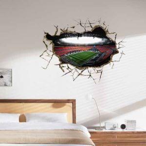 (EU Lager) 3D Wandtattoo Brasilien Fußball Weltmeisterschaft PVC Fototapete