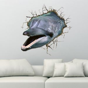 (EU Lager)3D Wandtattoo Delfine PVC Fototapete
