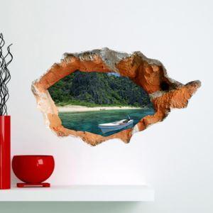 (EU Lager) 3D Wandtattoo Strand PVC Fototapete